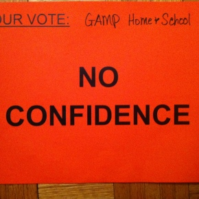 "50+ schools and groups issue a parent vote of ""NO Confidence"""