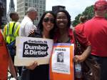 Parents United's Helen Gym and Temwa Wright traveled to Harrisburg in June for a statewide rally for school funding.
