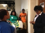 Over the summer, Parents United teamed up with Action United to do legislative walks through City Hall and urge Councilmembers to take action on school funding before school opened.