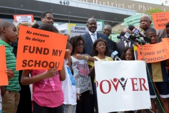 Parents United partnered with P.O.W.E.R. - an alliance of hundreds of faith-based congregations - to demand full funding for Philadelphia schools and the institution of a statewide funding formula. (Photo: Philadelphia Tribune)