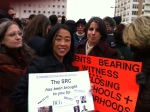 We joined the crowd with our own signs.