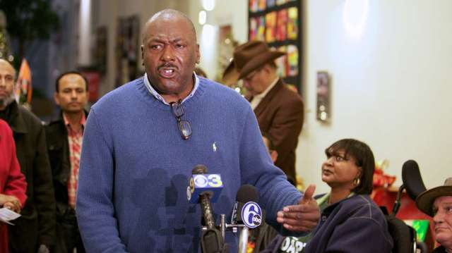 Taxi driver Workers Alliance President Ronald Blount, who raised the issue says Parking Authority money should support Philadelphians' needs, not just the agency itself. (Photo: WHYY Newsworks)