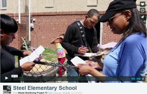 """Parents facing a charter takeover vow to stay """"SteelStrong"""""""