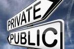 private v public