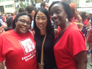 Parents United is well represented by members Kendra Brooks, Helen Gym and Sophia Saunders, among others.