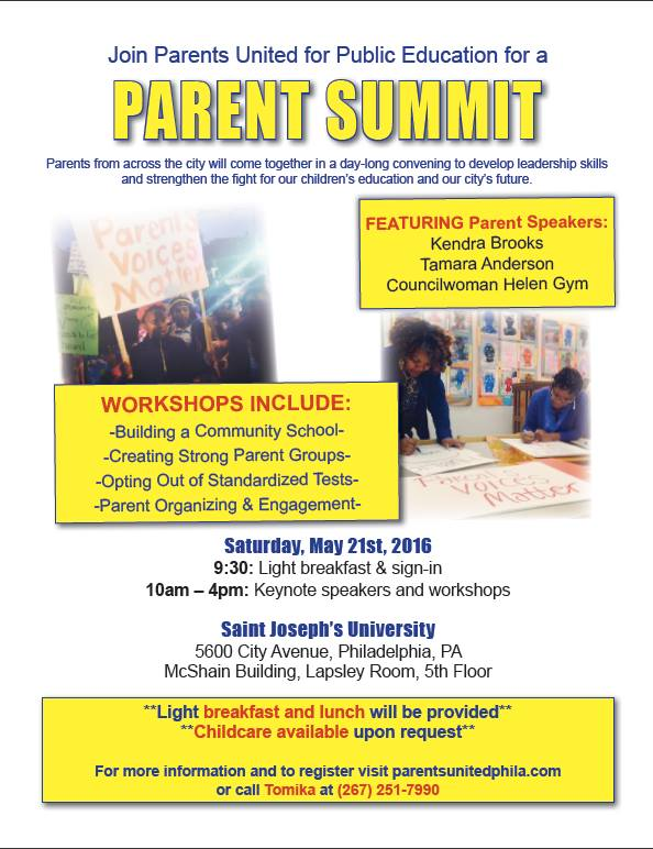 parent summit flyer